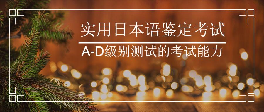 实用日本语鉴定考试(J.TEST)A-D级别测试的考试能力
