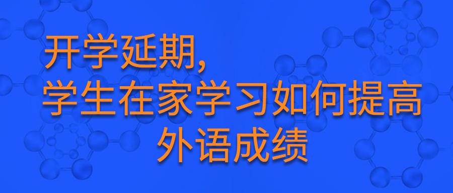 开学延期,学生在家学习如何提高外语成绩
